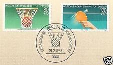 Berlin 1985: Tischtennis + Basketball! Sportmarken Nr. 732+733! 1A! 1712