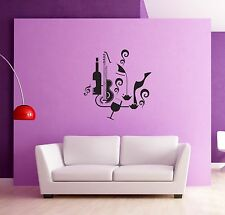 Wall Sticker Retro Music Modern Abstract Decor for Living Room  z1259