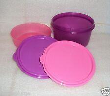 New Tupperware Little Wonder Snack Serving Bowls 6 + 14oz Bowl Set Purple Pink