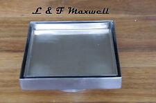 Tile Insert Stainless Steel Square Floor Waste Grates / Shower Drain 150x150mm
