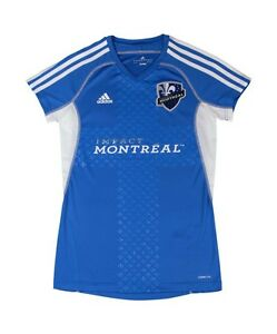 MLS Soccer 2012 Montreal Impact Women's Ladies Call Up Jersey XL Blue Adidas NWT