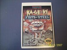 KA - GE - KI  FISTS OF STEEL Genesis Vidpro Card
