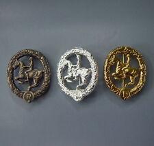 Konvolut Reiterabzeichen Bronze Silber Gold 3 Stück Orden Abzeichen WW2 WK2