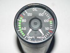 Beechcraft Oil Temp Pressure Gauge 100-384117-3 Hickok Electrical Instruments