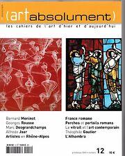 Revue (ARTabsolument) N°12 Porches et Portails romans Le vitrail Bernard Moninot