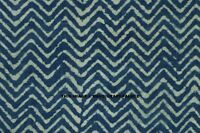 By Yard Indigo Indian Hand Block Print Cotton Fabric Natural Printed Vintage