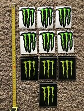 """10 MONSTER ENERGY STICKERS 4"""" x 3"""" - GREEN M-CLAW   NEW GENUINE 2 TYPES"""