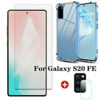 For Samsung Galaxy S20 FE Tempered Glass Screen Protector+Camera Lens Film+Case
