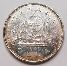 1949 Silver Dollar CHOICE MS BU * Beautiful King George VI KEY Canada SHIP $1.00