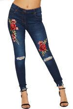 Pantaloni da donna blu in cotone taglia 34