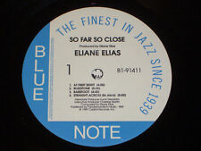 "12"" Eliane Elias so far così Close (at first Sign, Bluestone) Blue Note (NM)"