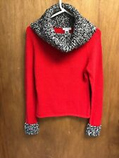 Womens Mac & Jac Red cowl neck sweater size Med  A5