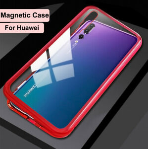 HUAWEI P30 P20 P40 PRO MATE 20 NOVA 3i 3e Magnetic Tempered Glass Phone Case