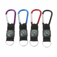 Outdoor Sport Keychain Compass Camping Climbing Carabiner Hiking Keyring Tool
