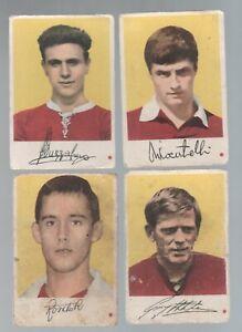 Figurine Calcio Cartonate EDI E.D.I.1962/63 Calciatori Torino 4 diverse