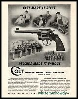 1944 COLT Officers' Model .38 SpecialTarget Revolver AD Antique Gun Advertising