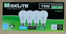 4 pack New 75 Watt Equivalent A19 LED Light Bulbs Dimmable DayLight 5000k Lot