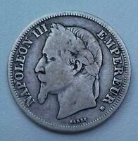 Napoléon III. 2 francs 1868 BB Strasbourg