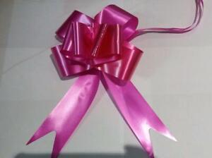10 x 50mm Large Pull Bow Hot Pink Ribbons Wedding Gift Wrap Car Decorations