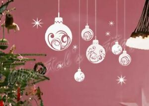 Large Elegant Christmas Bauble Ball Shop window Wall Decoration Sticker Decal
