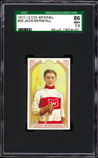 1911-12 C55 Imperial Tobacco #29 Jack Marshall HOF.  SGC 86 NM+  Centered!