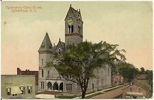 Opera House in Ogdensburg NY Postcard 1916
