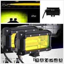2 Pcs 5inch Car SUV 4X4 Working Lights Driving Fog Lamp 72W Yellow LED Universal