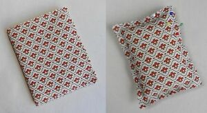 Handmade Needle Books and Pin Cushions. Vintage Laura Ashley cotton fabric.