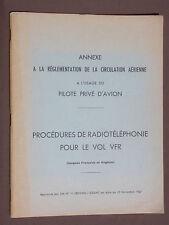 Réglementation de la circulation aérienne Pilote privé d'avion - Radiotéléphonie