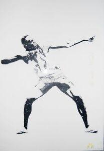 Bambi Street Art 'Usain Bolt To Di World' Signed 2012 Print (NOT BANSKY)