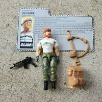 Vintage GI Joe Figure Outback with accessories and file card