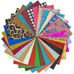 30pcs Glitter PU Leatherette Fabric Suede Leopard PVC DIY Bow Earring Material