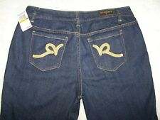 Womens Rocawear Bootcut Blue Denim Jeans Size 16 Gold on Tag Stretch NWT 68.00