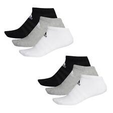 6 Par Adidas Rendimiento No Show Zapatillas Calcetines Talla 35-54 Unisex Sock