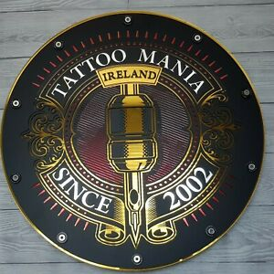 Tattoo Sign LED Light Box Quality Display Custom Illuminated Signage Art Chrome