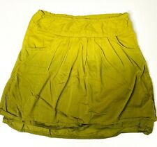 Athleta Ombre Lime Green Active Performance Skort Size 8 Outdoor Hiking Travel