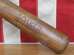"Vintage 1930s TruSport Wood Soaker Baseball Bat Hank Greenberg Model Tryon 36"""