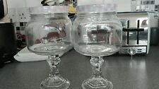 4 Glass sweet jars on stand vintage retro candy cart wedding  reduced to clear