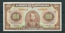 COLOMBIA BANKNOTES $100 1951 7 DIGITS