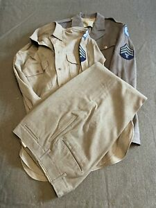 Original US World War Two Era, Enlisted Man's Class A Tunic, Shirt and Trousers