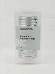 Aluminum Shower Rings Rust Proof 12 Pcs  Made By Design