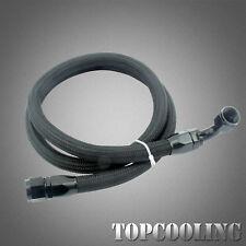 Black AN10 Nylon Braided Oil Fuel Hose 1.4M +Fitting Hose End Adaptor Kits AU