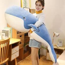 Large Whale Plush Doll Soft Stuffed Animal Dolls Toy Pillow Kids Birthday Gift