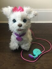 FurReal Friends Get Up & GoGo My Walkin' Pup Pet White Dog Leash