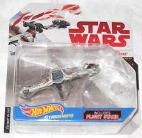 Star Wars Hot Wheels Starships Poe's Ski Speeder with Flight Stand New