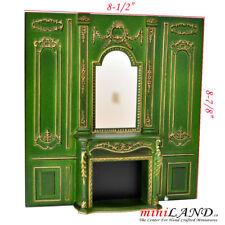fireplace wall panel 1pc Royal Paneling Walnut Dollhouse miniature 1:12 DIY GR