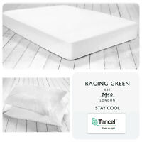 Racing Green STAY COOL Tensel/Cotton Blend (180 TC) Fitted Sheets & Pillowcases