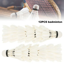 12pcs Goose Feather Badminton Ball Shuttlecock Sports Training Gam /