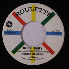 RONNIE HAWKINS: Ruby Baby / Hay Ride 45 Oldies