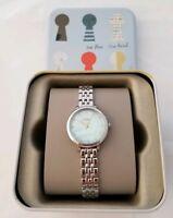 """NIB Women's """"FOSSIL"""" Jacqueline Silver Stainless Steel Bracelet Watch #ES4155"""